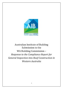 AIB Submission on WA Residential Roof Construction Compliance FINAL