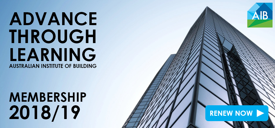 australian institute of building advance through learning